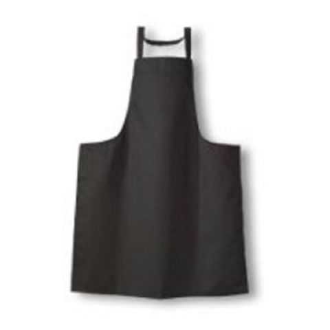 Black chef cotton cooking full apron matching straps